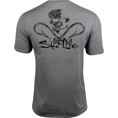 Salt Life Mens Get Hooked SLX Performance T-Shirt