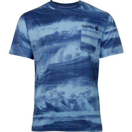 Salt Life Mens Stormy Waters SLX Uvapor T-Shirt