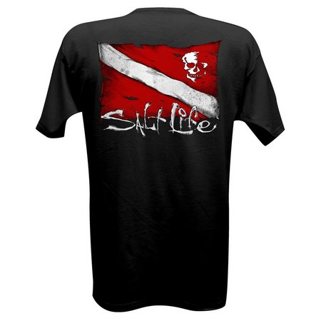 Salt Life Mens Dive Flag & Skull T-Shirt