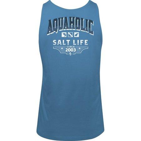 258af016543457 Salt Life Mens Aquaholic Logo Tank Top