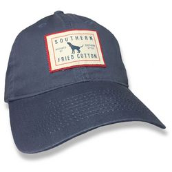 Southern Fried Cotton Mens Blue Trademark Hat