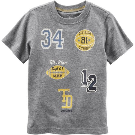 New! Carters Little Boys Athletic Patch T-Shirt