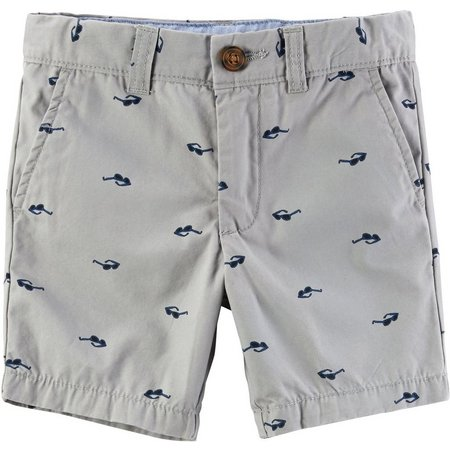 Carters Little Boys Sunglasses Flat Front Shorts