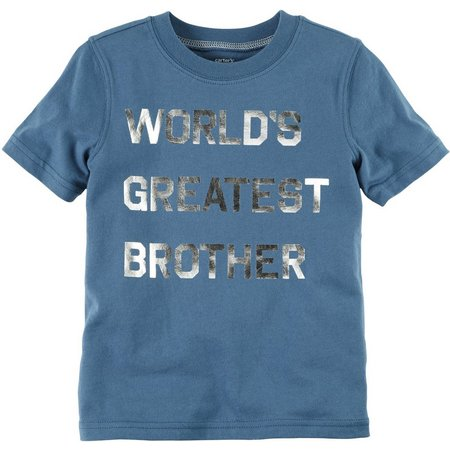 New! Carters Little Boys Greatest Brother T-Shirt