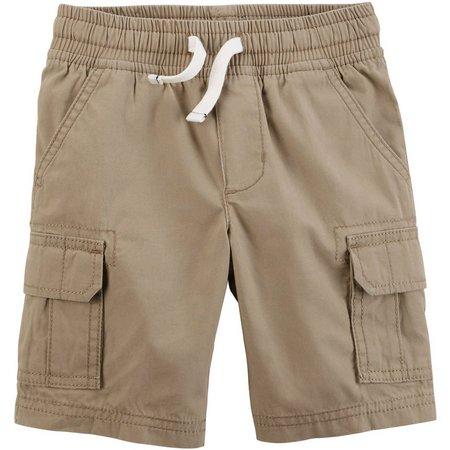 Carters Little Boys Pull-On Poplin Cargo Shorts