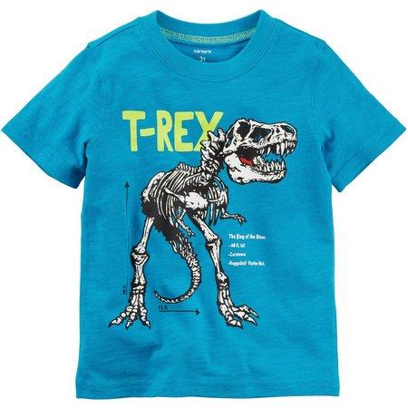 Carters Little Boys T-Rex Skeleton T-shirt