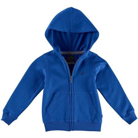 Nautica Little Boys Solid Fleece Zip Up Hoodie