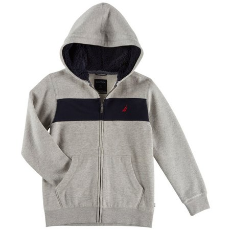 Nautica Little Boys Sherpa Lined Colorblock Hoodie
