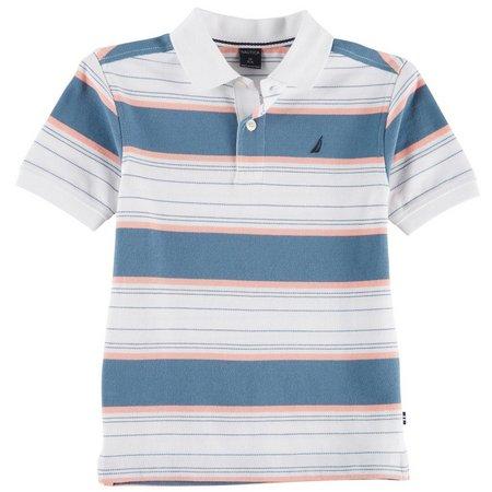 Nautica Little Boys Noah Stripe Polo Shirt