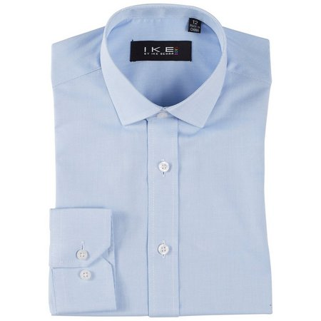 Ike Beha Little Boys Solid Texture Shirt