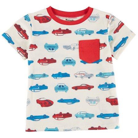 Nannette Little Boys Cars Pocket T-Shirt