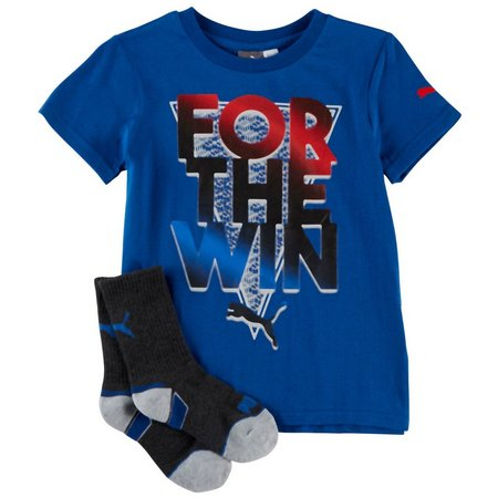 Puma Little Boys For The Win T-shirt Sock