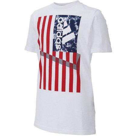 Adidas Little Boys American Flag T-shirt