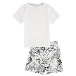 Reel Legends Little Boys Shark Bite Shorts Set