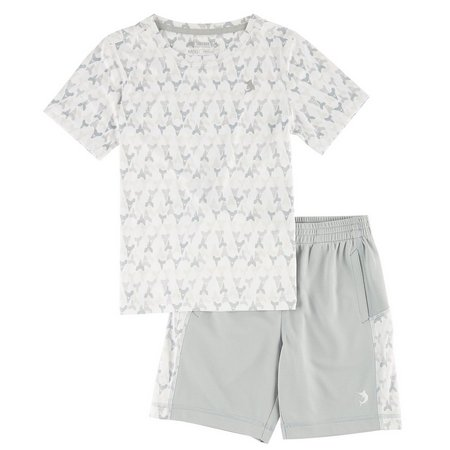 Reel Legends Little Boys Freeline Teeth Shorts Set