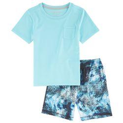 Reel Legends Little Boys Freeline Camo Shorts Set