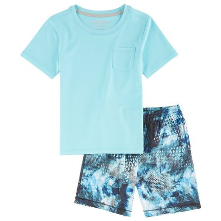 Reel Legends Little Boys Freeline Camo Shorts Set