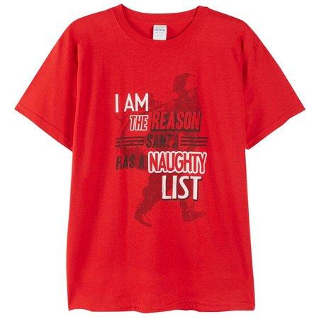 Brisco Big Boys Santa's Naughty List T-Shirt