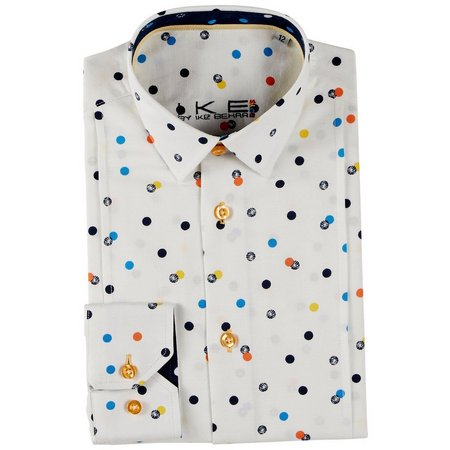 Ike Behar Big Boys Polka Dot Button Up