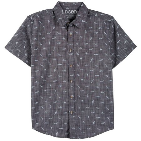 DCBD Big Boys Shark Button Down Shirt