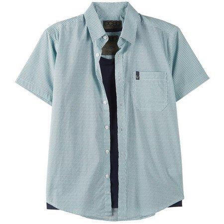 DCBD Big Boys 2-pc. Geometric Button Down Shirt