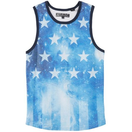New! Distortion Big Boys Galaxy American Flag Tank