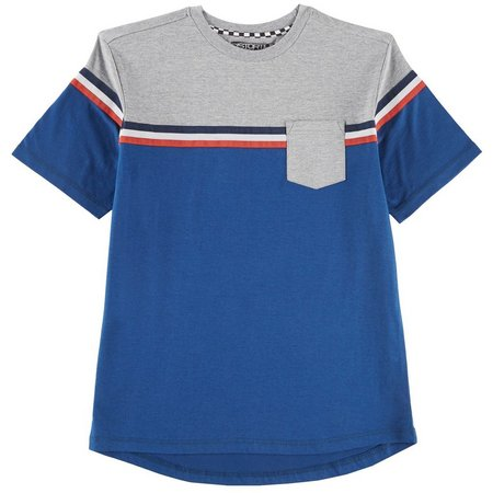 Distortion Big Boys Stripe Pocket T-Shirt