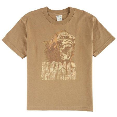 Kong Skull Island Big Boys Black Attack T-Shirt