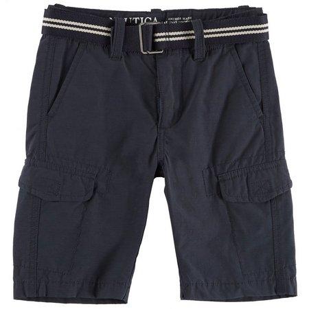 Nautica Big Boys Belted Utility Cargo Shorts