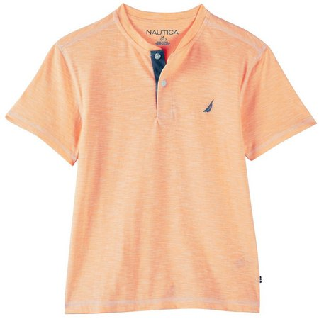 Nautica Big Boys Heathered Henley Shirt