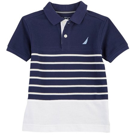 Nautica Big Boys Striped Polo Shirt