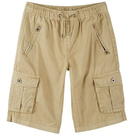 Buffalo Big Boys Washed Twill Cargo Shorts