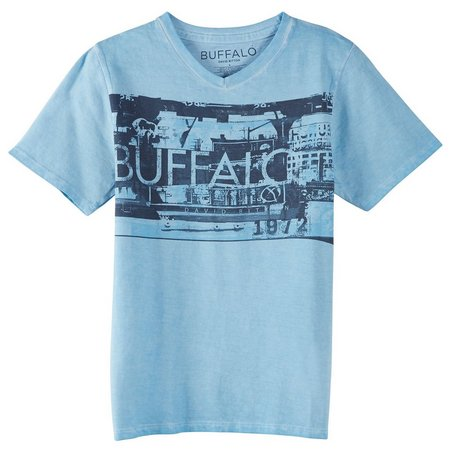 Buffalo Big Boys Logo V-Neck T-Shirt