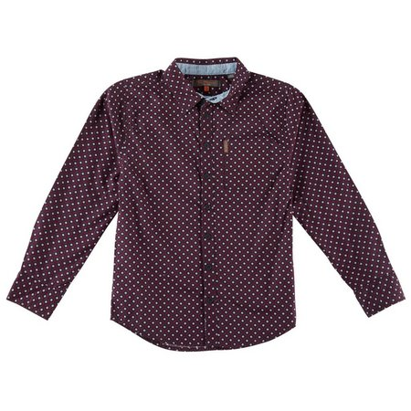 Ben Sherman Big Boys Diamond Button Up Shirt