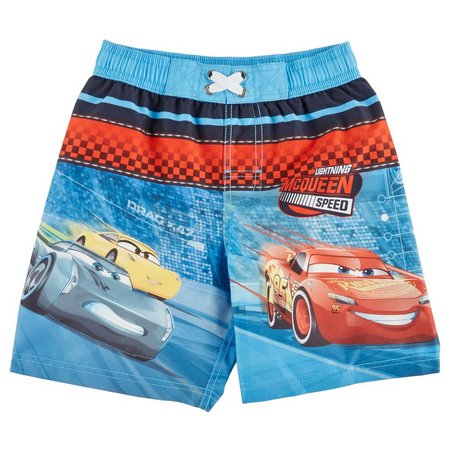 Disney Pixar Cars Little Boys Speed Swim Trunks