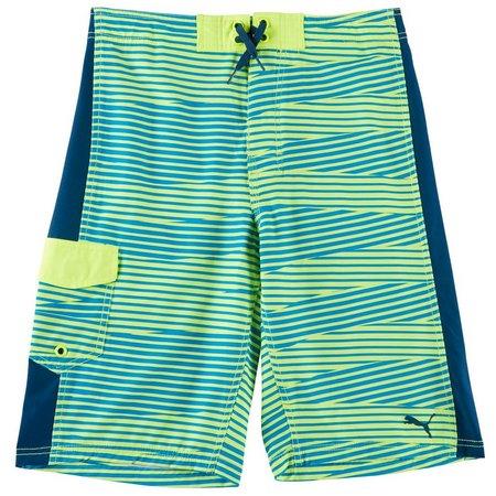 Puma Big Boys Stripe Boardshorts