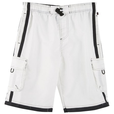 Nothing But Net Big Boys Side Stripe Boardshorts
