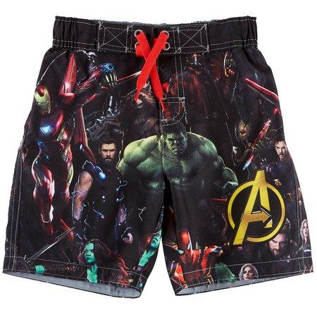 Marvel Avengers Little Boys Group Swim Shorts
