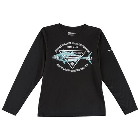 Columbia Big Boys Long Sleeve Triangle PFG T-Shirt