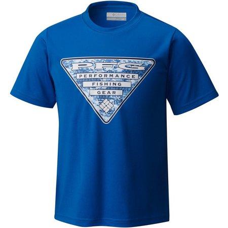 Columbia Big Boys PFG Triangle Crew T-Shirt