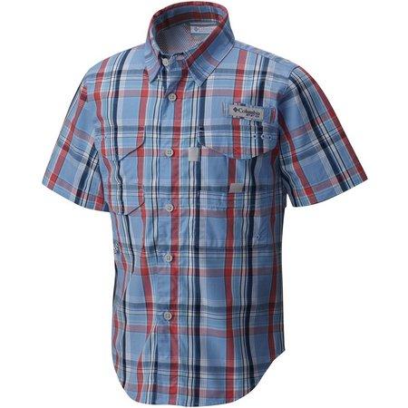 Columbia Big Boys Super Bonehead Gingham Shirt