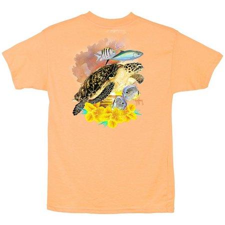 Guy Harvey Big Boys Turtle Sunrise T-Shirt