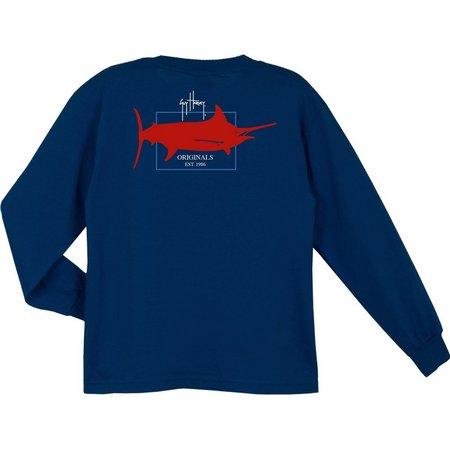 Guy Harvey Big Boys Long Sleeve Logo T-Shirt