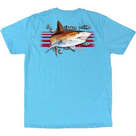 Guy Harvey Big Boys Trigger Stripe T-Shirt