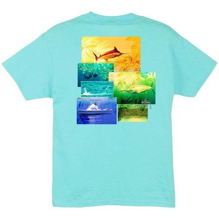Guy Harvey Big Boys New Dawn Marlin T-Shirt