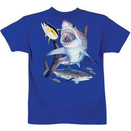Guy Harvey Big Boys Great White Shark T-Shirt