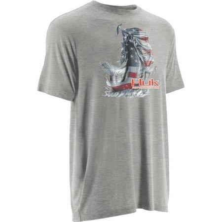 Huk Big Boys KC Scott American Bass T-Shirt