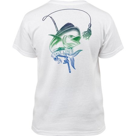 Salt Life Big Boys Mahi Chase Sketch T-Shirt