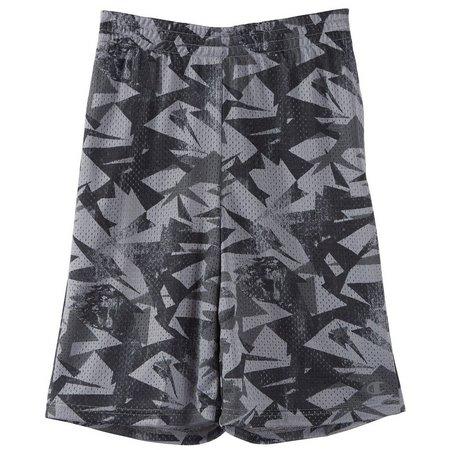 Champion Big Boys Geo Tonal Mesh Shorts
