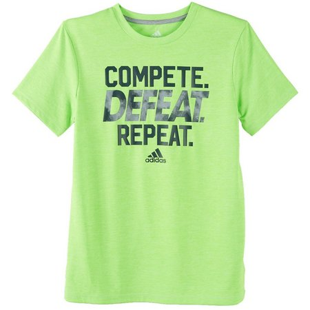 Adidas Big Boys Compete Defeat Repeat T-shirt